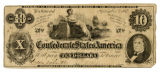 Confederate $10.00 bank note