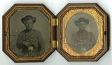 Encased tintypes of Confederate soldiers