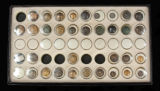 Collection of Union and Confederate buttons