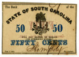Civil War era South Carolina bond coupon
