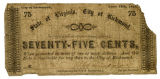 Civil War era currency issued by city of Richmond, Va.