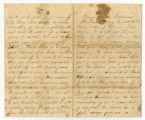 Letter written by Pvt. Benjamin Allen, Co. D, 8th Tenn. Inf. Regt., USA to his wife, Martha...