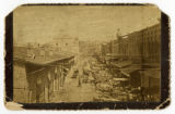 Cabinet card of Market Street area in Knoxville