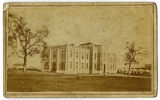 Wartime carte de visite of Literary Building on University of Nashville campus
