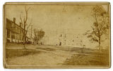 Carte de visite of Lindsley Hall and University of Nashville campus