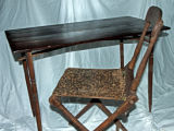 Portable wooden writing table and chair