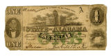 Two State of Alabama one dollar notes