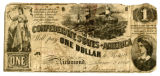 Confederate one dollar bill