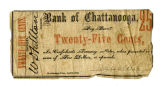 Bank of Chattanooga twenty-five cents note