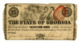 State of Georgia twenty-five cents note