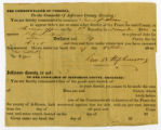 Court summons of the Commonwealth of Virginia for James Dickson
