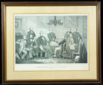 Lithograph of Jefferson Davis and his cabinet