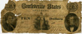 Confederate ten-dollar bill