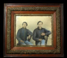 Framed image of two brothers