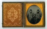 Tintype of Benjamin Franklin Ammons and Raiford Franklin Ammons of the 1st Tennessee Heavy...