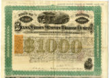 Alabama, Selma, Marion, Memphis Railroad Company bonds, signed by N. B. Forrest, president of the...