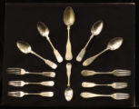 Spoons and forks from Athenaeum academy in Columbia, Tennessee