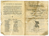 Song sheet for United Confederate Veterans (UCV) reunion