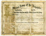 Grand Army of the Republic membership certificate