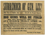"""Surrender of Gen. Lee!"" broadside"