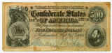 $500 Confederate bond