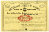 State of Tennessee Confederate Bond