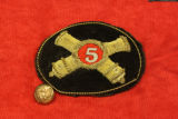5th Ohio Artillery Embroidered Hat Insignia