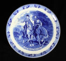 Staffordshire commemorative plate