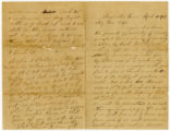 Letter from Cpl. Henry Marshall Misemer, Co. F, 3rd Tenn. Cav. Regt., USA, to his wife Martha