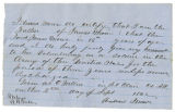 Letter from Andrew Moore granting son James permission to join the U.S. Army
