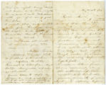 Letter from Mollie McReynolds Grisham to Lt. Aaron Gamble McReynolds, USA