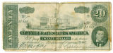 Confederate twenty-dollar bank note