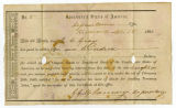 Confederate bond receipt