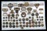 Assortment of buttons and buckles
