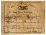 Certificate of service for William Jackson