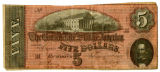 $5 Confederate notes
