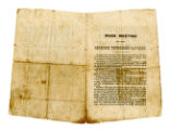 """Mass Meeting of the Seventh Tennessee Cavalry"" 1865 pamphlet expressing resolve to..."