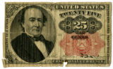 "Original U.S. ""greenback"" paper currency in $.10 and $.25 denominations"