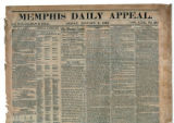 Memphis Daily Appeal newspaper, January 2, 1863, issue