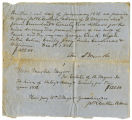 Promissary note for the hiring of several slaves