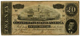 Confederate $20 currency bill