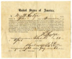 Oath of allegiance of Wm. (William) Hodge