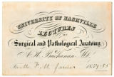 Matriculation card, schedule, and medical diploma of F. W. James