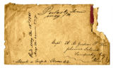 Envelope addressed to Capt. A. R. Gordon