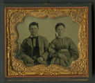 Daguerreotype of unknown Confederate soldier and wife