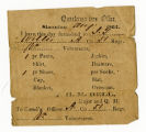 Quartermaster receipts for clothing
