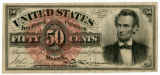 "U. S. ""greenback"" bill from the Civil War"