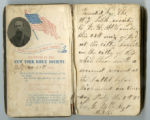 Pocket Bible with tintype of wounded New York soldier J. E. McCombs