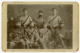 Photograph of Confederate officers at Gen. Leonidas Polk's Headquarters, Demopolis, Ala.