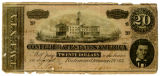 Confederate currency bills